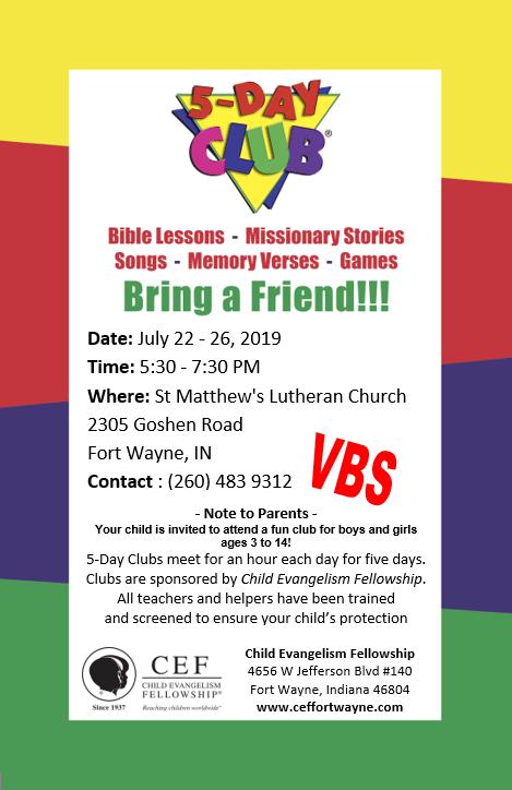 VBS 2019 Flyer